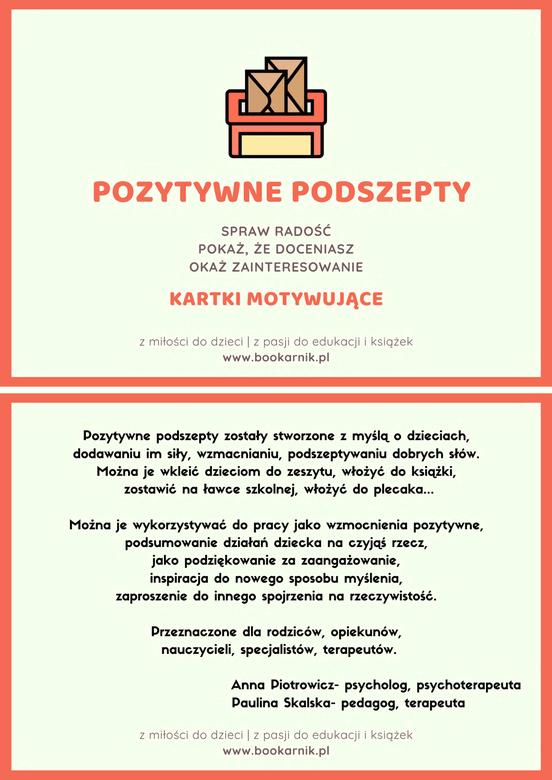 Pozytywne podszepty - kartki motywujące